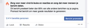 Promoot nooit zomaar je Facebook bericht