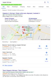 Via Google Mijn Bedrijf kun je veel extra bedrijfsinformatie kwijt.